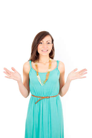 Beautiful young woman posing photo