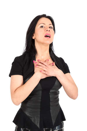 agression: Beautiful businesswoman posing