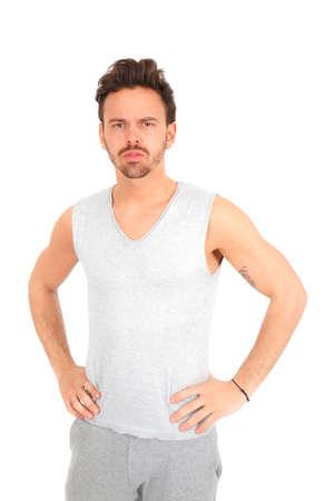 Beautiful young man posing photo