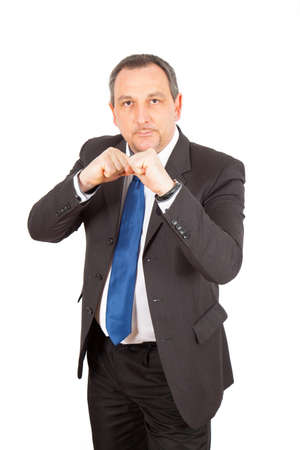 injunction: Businesman doing different poses