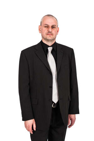 Man posing in a suit photo