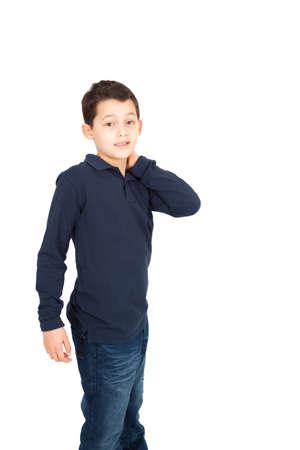 8 10 years: Handsome little boy posing