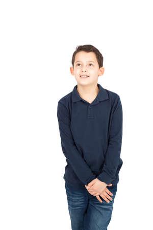 Handsome little boy posing