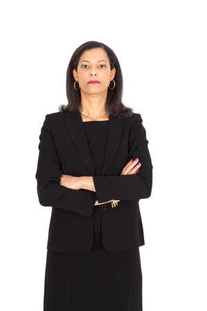 Beautiful businesswoman posing