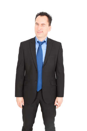 Handsome businessman doing different expressions in different sets of clothes photo