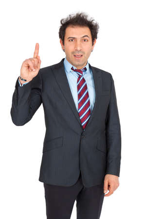 Handsome arabic man doing different expressions in different sets of clothes: want to speak photo
