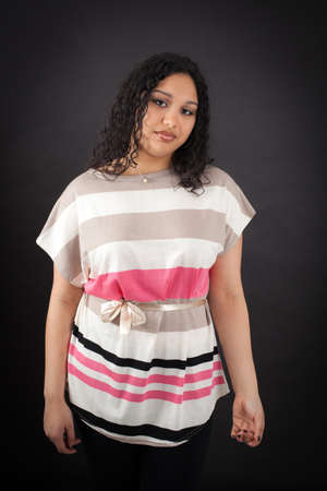 gape: Beautiful woman doing different expressions in different sets of clothes: bored Stock Photo