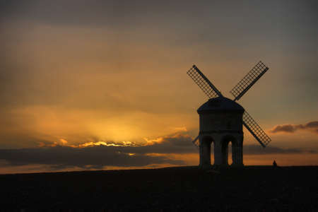 Chesterton Windmill at dusk Stock Photo