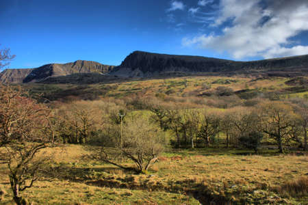 Beautiful Welsh mountain range Cadair Idris under a moody blue sky Stock Photo - 13219127