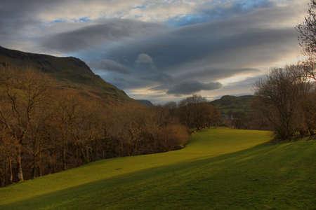 Beautiful Welsh mountain range  Cadair Idris  under a moody grey sky Stock Photo - 13219119