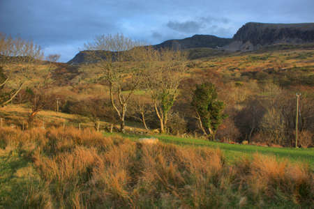 Beautiful Welsh mountain range  Cadair Idris  under a moody grey sky Stock Photo - 13219131