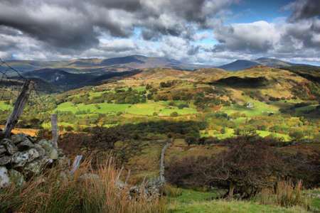 Mountainous Welsh countryside view