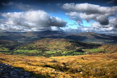 Beautiful Mountainous Welsh countryside view