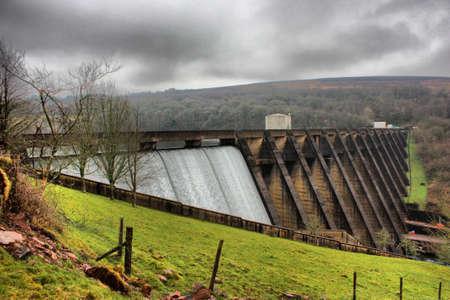 wimbleball lake dam in exmoor
