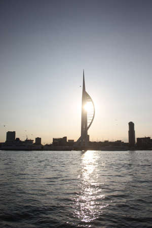 portsmouth: Spinnaker tower portsmouth viewed from a sailing boat