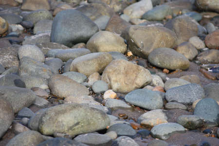 stones and rocks on a sandy beach background