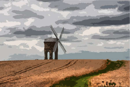 moody: Chesterton Windmill under a moody cloudy sky
