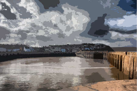 quay: Watchet harbour somerset