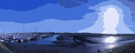 moor: sailing and power boats moored in lymington marina