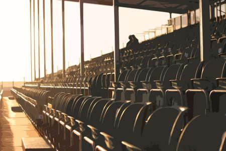 grandstand: Disposici�n de los asientos patr�n tribuna regulares sim�trico al atardecer