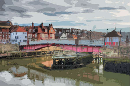 quay: Whitby swing bridge in closed position