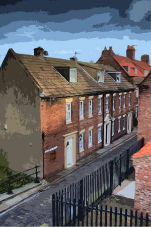 yorkshire: Henrietta Street Whitby, North Yorkshire UK