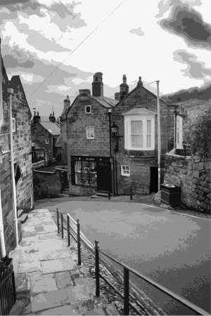 main street: the main street robin hoods bay north yorkshire