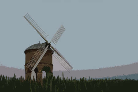 stone arch: the old stone windmill at chesterton Illustration