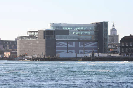 america's cup america: Ben Ainslie Racing Headquarters in portsmouth harbour