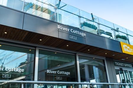 River Cottage Botanical Bar at HMS Belfast, London Editorial