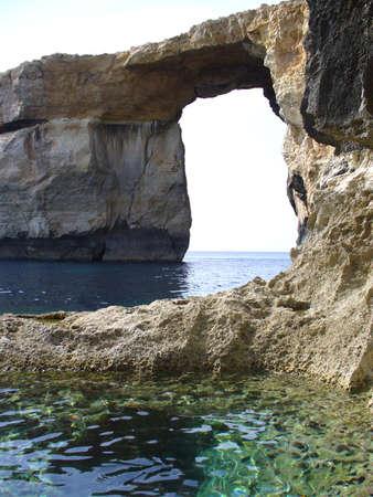 gozo: Azure window rock formation in gozo, malta