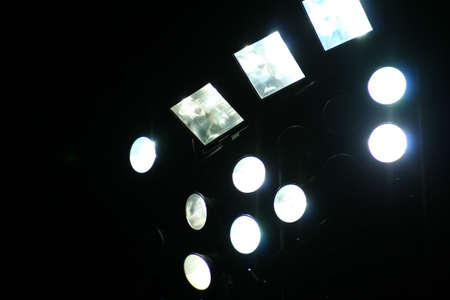 floodlights: football  soccer bright floodlights at night in england