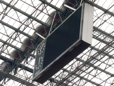 score board: San Siro football score board against a glass roof