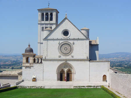 francesco: Basilica di San Francesco Catholic church in Assisi, Italy  Stock Photo