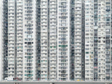 high rises: dense, high rise apartments flats, in Hong Kong