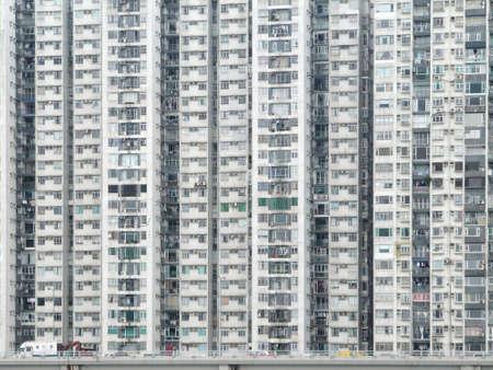 apartment blocks: dense, high rise apartments flats, in Hong Kong