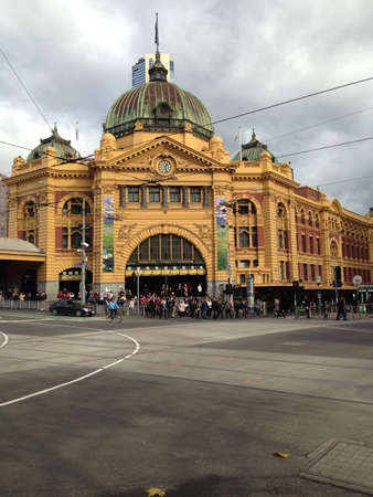 flinders: Flinders Street Station. Melbourne. Australia.  Stock Photo