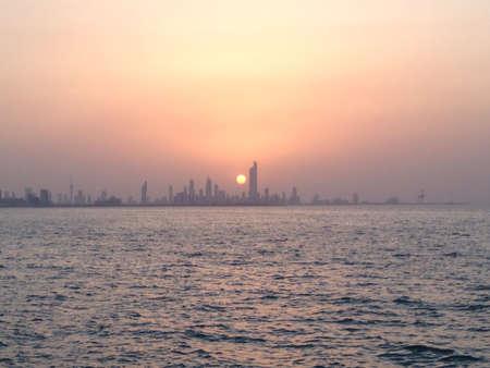 Sunset view of Kuwait City