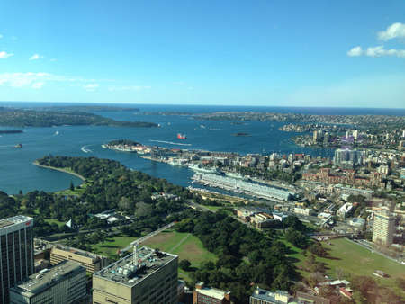 View of Sydney harbour from the tower.