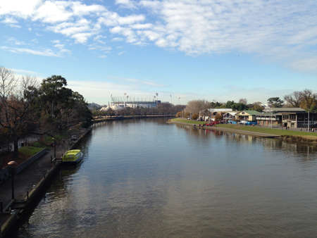 View from bridge in Melbourne Australia.