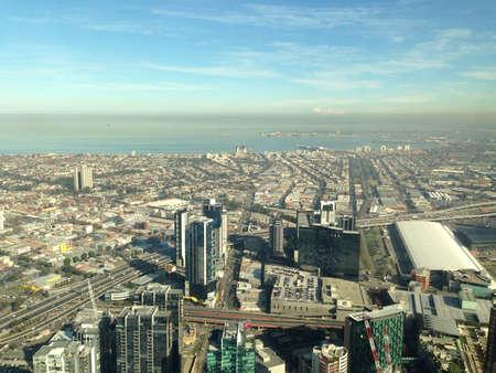 View from Eureka Tower Melbourne Australia.