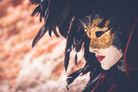 Carnival mask - A decorative mask in the streets of Venice. Stock Photo - 51566540