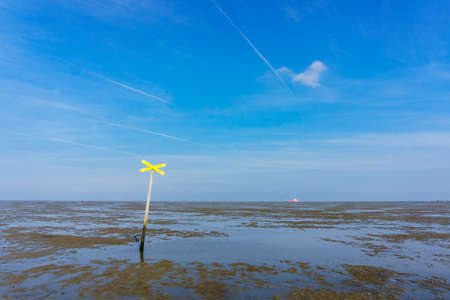 Ebb tide National park wadden sea Lower saxony Germany Europe