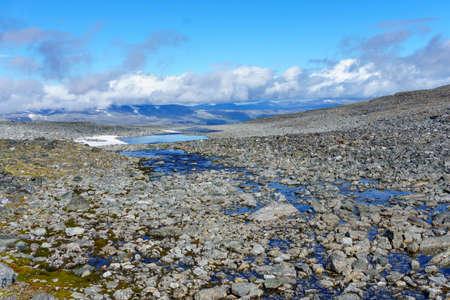 water in jotunheimen at summer in norway
