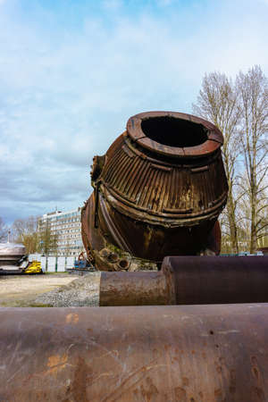 converting furnace to produce steel Stock Photo
