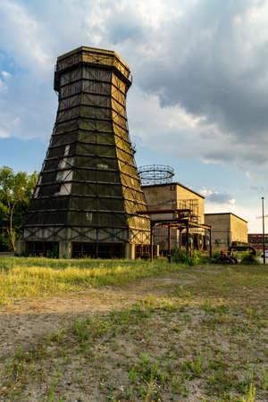 Zollverein coking plant gasometer clouds