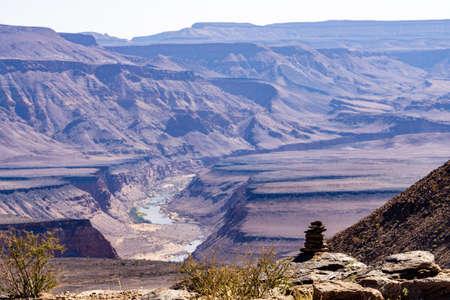 canyon fishriver namibia desert africa wild