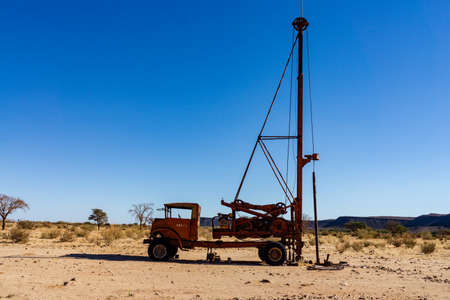 africa truck water pump Stock Photo