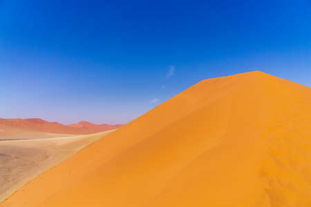 African landscape beautiful sunset dunes and nature of Namib desert Sossusvlei Namibia
