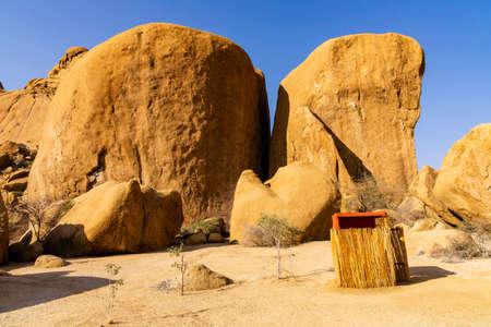 Colorful rocky landscape in Spitzkoppe Namibia Banco de Imagens